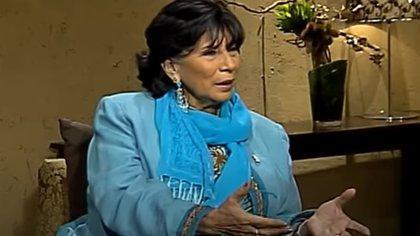 En una entrevista de 2012, Mónica Miguel contó detalles de su encuentro con Fellini (Captura YouTube Once TV)