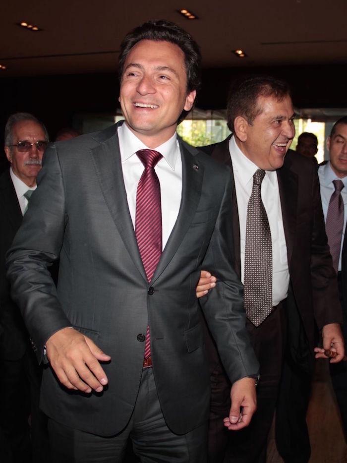 Emilio Lozoya Austin junto a Alonso Ancira, presidente de la Cámara Nacional del Acero (Canacero).