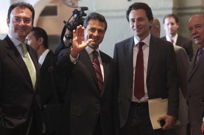 En la imagen se puede ver a Luis Videgaray, Enrique Peña Nieto y Emilio Lozoya.