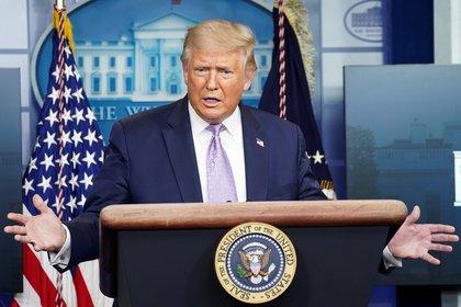 El presidente de Estados Unidos, Donald Trump, buscará su reelección en las elecciones del 3 de noviembre. Foto: REUTERS / Kevin Lamarque