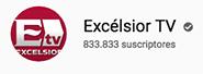 Logotipo de youtube de Excélsior TV