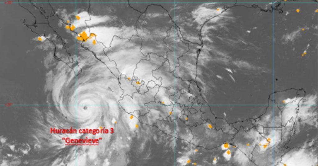 Huracán Genevieve degradado a categoría 3: pronósticos y medidas para los próximos días