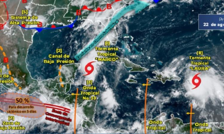 Marco y Laura: estas 2 tormentas alertan a México y el Caribe