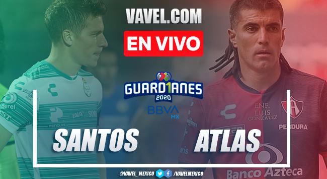 Resumen: Santos 0-0 Atlas en Liga MX 2020   16/08/2020